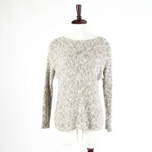 VINCE – Linen Blend Knit Long Sleeve Sweater